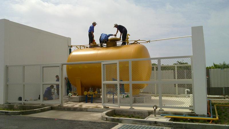 Bồn chứa hệ thống xử lý Amoniac áp dụng cho nước thải bẩn